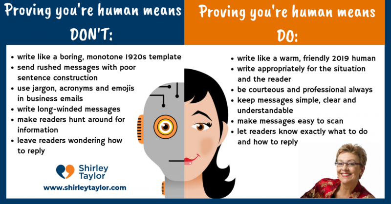 Prove you're human… in emails too!